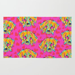 Bright Dog Pattern | Pink Rug