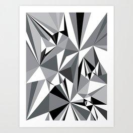 Diamond Grey Art Print