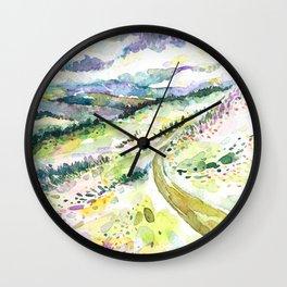 Violet Skies 1 Wall Clock