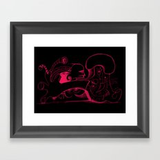 Human body in magenta Framed Art Print
