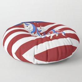 American Flag Stars and Stripes Unicorn Floor Pillow