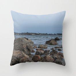 Ocean's edge Throw Pillow
