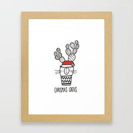 CHRISTMAS CATUS Framed Art Print