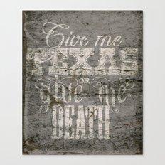 Give Me Texas... Canvas Print