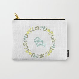 Oh, Goody Goody! - Lovely Expression + Vintage Wreath Illustration Print Carry-All Pouch
