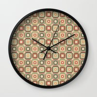 square Wall Clocks featuring Square by samedia