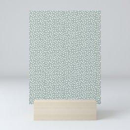 Sage dots Mini Art Print