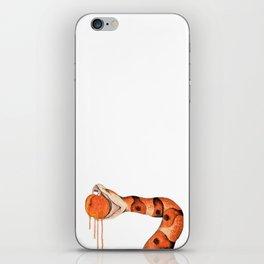 Copperhead Biting Peach iPhone Skin