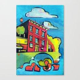 Magenta Brownstone Canvas Print