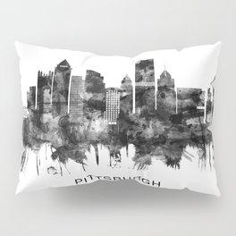 Pittsburgh Pennsylvania Skyline BW Pillow Sham