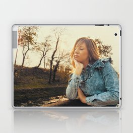 Lovely young woman in the Natural Park of Ticino Laptop & iPad Skin