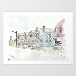 University of Dayton Student Neighborhood, Ghetto, UD Art Print