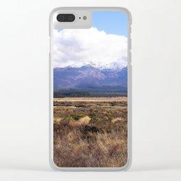 Mount Ruapehu Clear iPhone Case
