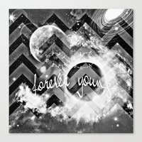 forever young Canvas Prints featuring forever young by haroulita