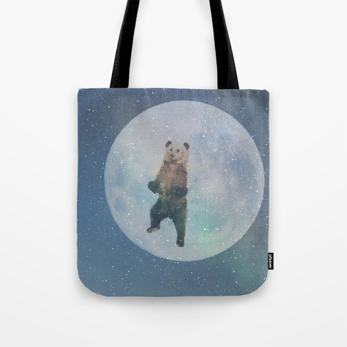 Bear Moon Tote Bag