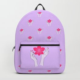 Holy orchid pattern Backpack