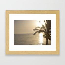 Tunisian African Beach Sunrise Framed Art Print