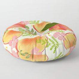 Peaches & Flowers Floor Pillow