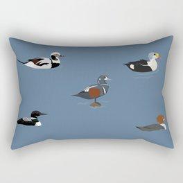 Ducks and a Loon Rectangular Pillow
