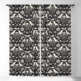 All Hallows' Eve - Black Ivory Halloween Blackout Curtain