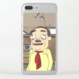 Rick and Morty Ants in my Eyes Johnson Clear iPhone Case