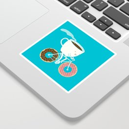 Coffee and Donuts Sticker