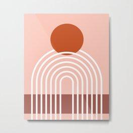 Mid Century Modern Geometric 1 (Terrocatta abstract) Metal Print