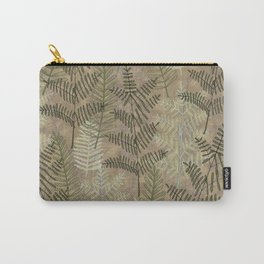 Ferns Beige Carry-All Pouch
