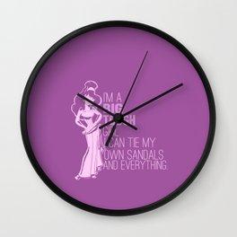 im a big tough girl.. meg.. hercules Wall Clock