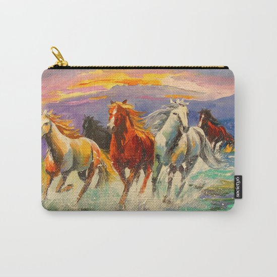 A herd of horses Carry-All Pouch