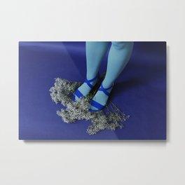 blue legs Metal Print