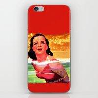 bondage iPhone & iPod Skins featuring Beach Blanket Bondage by sasha alexandre keen