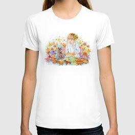 A girl with a kitten vol.4 T-shirt