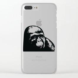 Jimmy Rustle Gorilla Clear iPhone Case