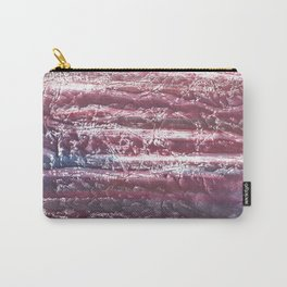 Red violet marble abstract watercolor Carry-All Pouch