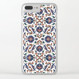 Iznik Pattern Red Blue White Clear iPhone Case