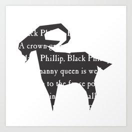 Black Philip I Art Print