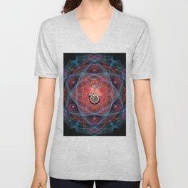 Hamsa - CHAI - Sacred Geometry Unisex V-Neck
