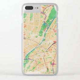 Munich in Watercolor Clear iPhone Case