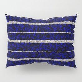 Silver Stripes with a Blue Plasma Background Pillow Sham