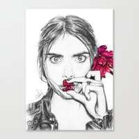 cara Canvas Prints featuring CARA  by Roxanne Jade Dentry