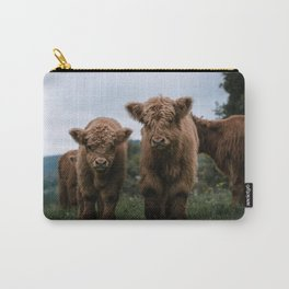 Scottish Highland Cattle Calves - Babies playing II Carry-All Pouch