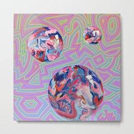 artRAVE Preshow Bubbles Metal Print