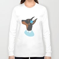 doberman Long Sleeve T-shirts featuring Doberman by Shanshan