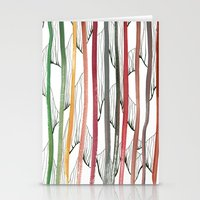 stripes Stationery Cards featuring STRIPES by u t a