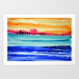 Sunset beauty Art Print