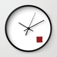 grid Wall Clocks featuring Grid by Francesco Petracca