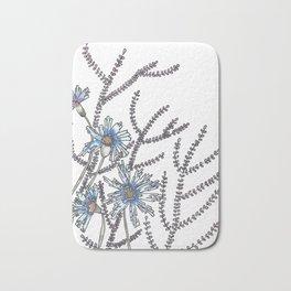 Flower Garden Abstract Art Design Bath Mat