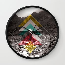 Sojourn series - Fox Glacier  Wall Clock