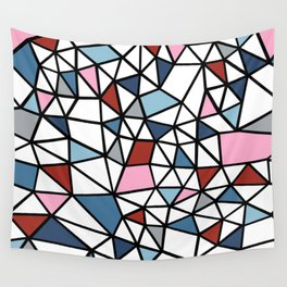 Segment Pink and Blue Wall Tapestry